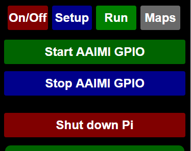 The configuration interface for AAIMI GPIO. Picture: Anthony Hartup.