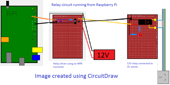 connect and use a relay you raspberry pi or arduino a connection diagram for a relay circuit and a raspberry pi picture anthony hartup