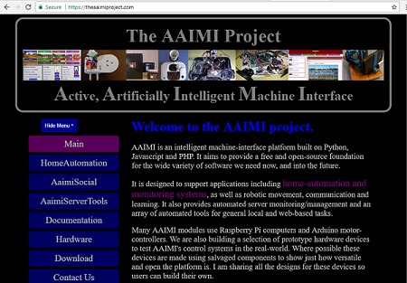 The AAIMI Home Automation web-interface